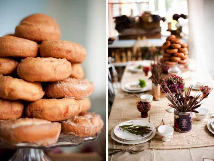 Why It Works Wednesday: Organic Harvest Fall Table Setting With Cranberries & Doughnuts