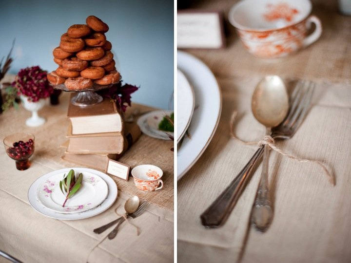 Rustic Fall Table Setting Robin Nathan Photography via Every Last Detail 6