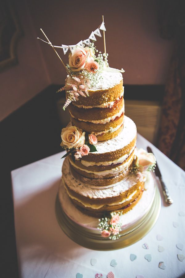 Rustic Vintage Naked Wedding Cake