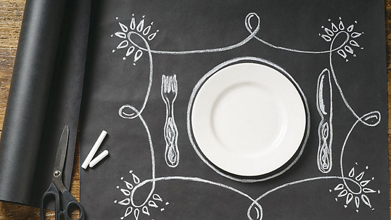 Chalkboard Wrapping Paper Placemat Papersource via BHG
