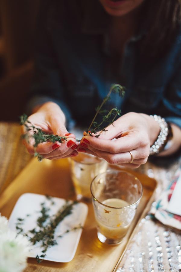 Pear Nectar & Thyme Mimosa via Glitter Guide 3