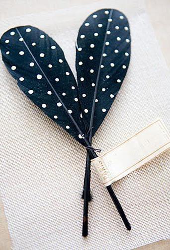 Polka Dot Feathers