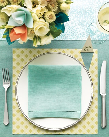 Scrapbook Paper Placemat With Peekaboo Escort Card