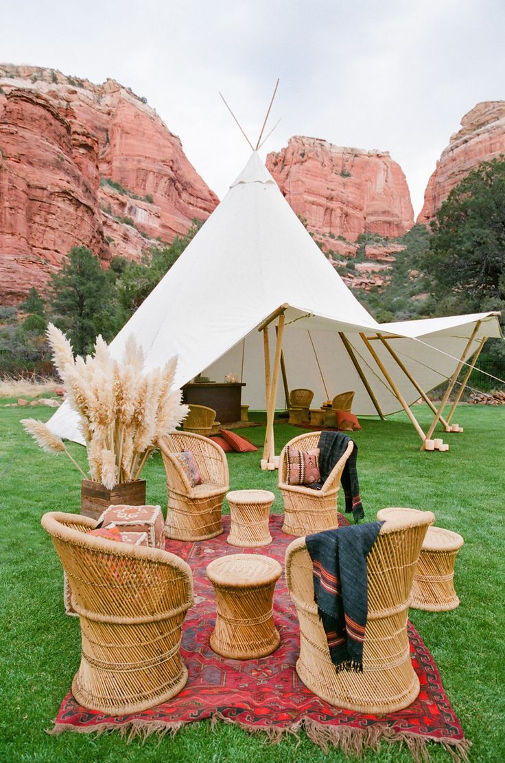 Teepee inspired outdoor tent