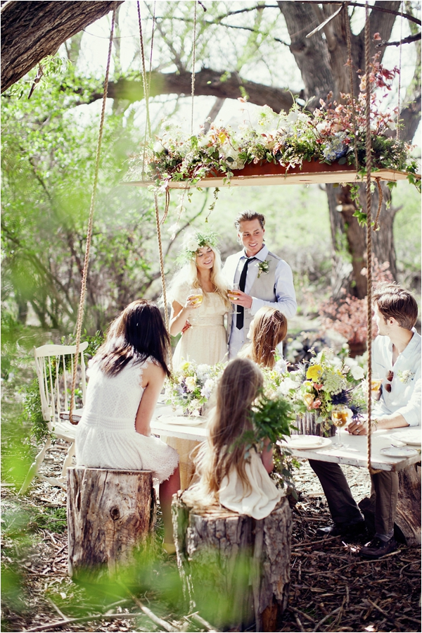 Tom Sawyer Inspired Outdoor Suspended Table via Le Magnifique Stephanie Sunderland Photography 1