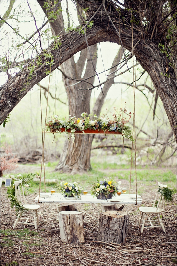 Tom Sawyer Inspired Outdoor Suspended Table via Le Magnifique Stephanie Sunderland Photography