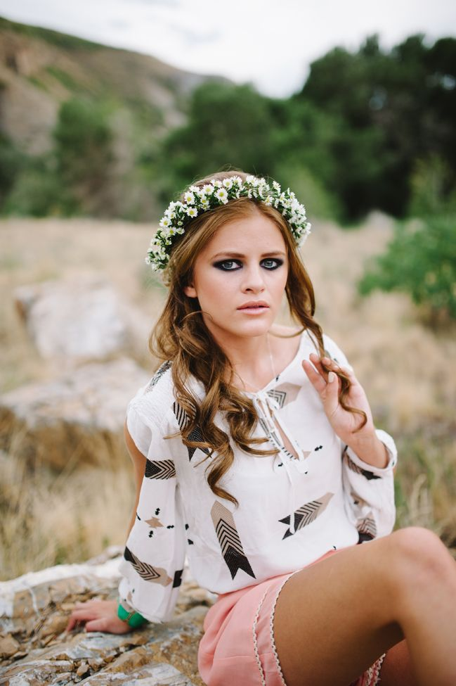 70s Inspired Floral Crown Jessie Alexis Photography via Fab You Bliss 3