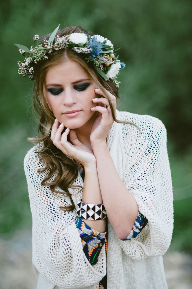 70s Inspired Thistle Floral Crown Jessie Alexis Photography via Fab You Bliss