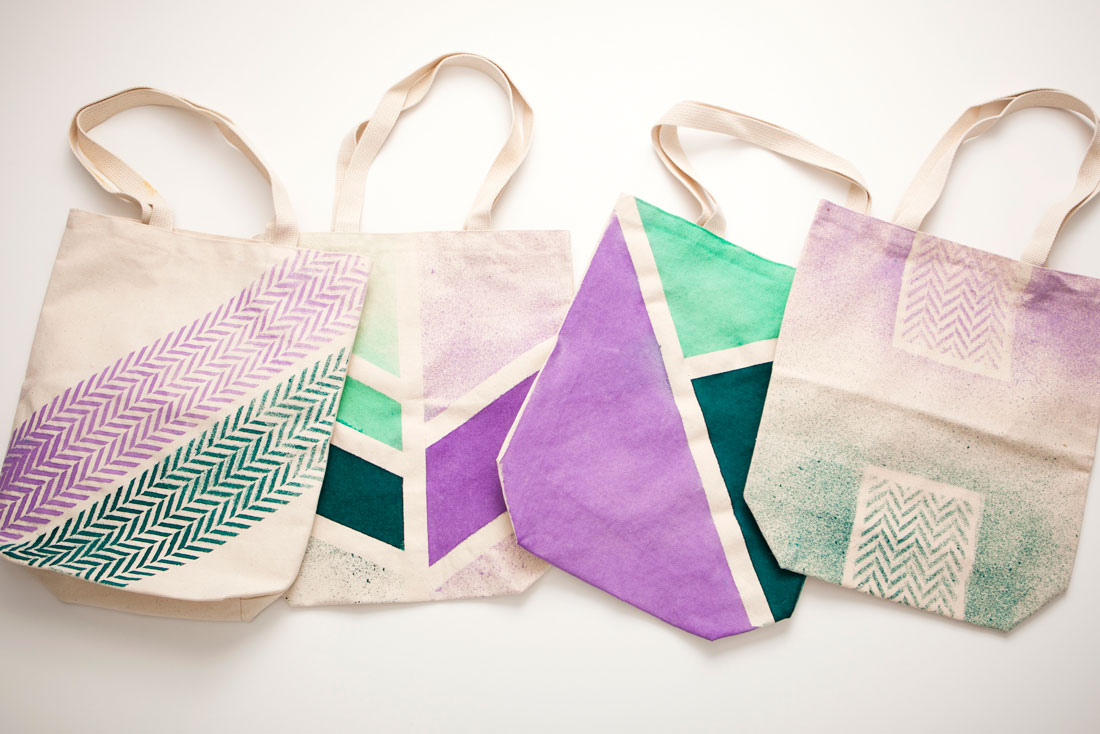 Brit + Co DIY Dye Tote Bags