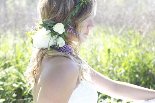Lilac Floral Crown Lauren Albanese Photography via Fly Away Bride 1