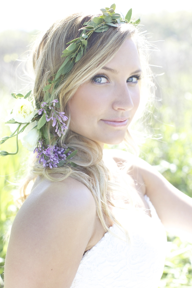 Lilac Floral Crown Lauren Albanese Photography via Fly Away Bride