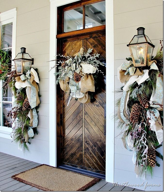 Neutral Winter Wedding Decor via Thistle Wood Farms